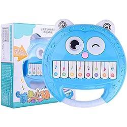 Juguetes educativos,Internet Rompecabezas De Dibujos Animados Electrónicos Piano Sonajeros Juguetes Sonajeros De Bebé La Mano Campana Juguete Educativo Temprano Musical (Aleatorio)