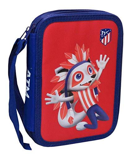 Atlético Madrid Plumier 2 Pisos Material Escolar