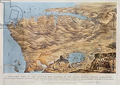 A Panoramic View Of The Position Now Occupied by The Allied Armies Before Sebastopol, Sketched by Command of the Emperor Louis Napoleon by an Eminent Officer of the Imperial French Engineers, pub. by Read & Co, 1855(Litho) (70150), Poster, 130 x 90 cm