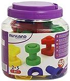 Miniland - Juego educativo de tornillos y tuercas (plástico, 48...