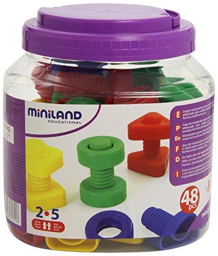 Miniland - Juego educativo de tornillos y tuercas...