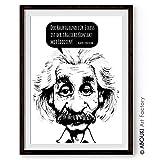 ABOUKI hochwertiger Kunstdruck - ungerahmt - Albert Einstein Zitat