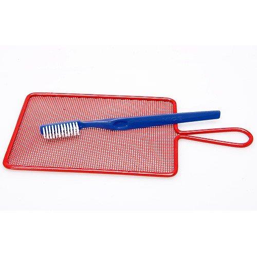 Spritzsiebtechnik - Spritzsieb mit Bürste für Wasserfarbe