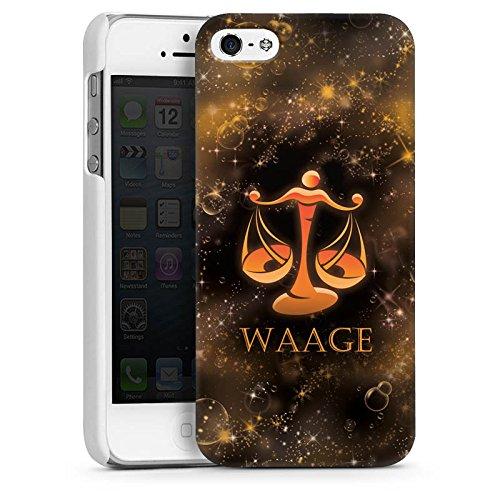 Apple iPhone 5s Housse Étui Protection Coque Balance Signes du zodiaque Astrologie CasDur blanc