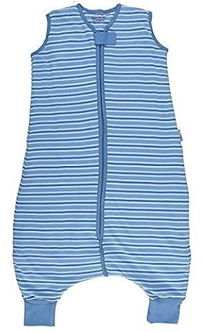 Schlummersack Ganzjahres Schlafsack mit Beinen 2.5 Tog - blaue Streifen - 24-36 Monate/100 cm
