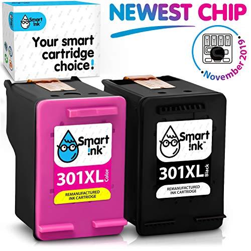 Smart ink cartucce compatibili hp 301xl 301 xl (nero & colori 2 combo pack) per la ricarica delle stampanti deskjet 1000 1010 1050 1510 2050 2050a 2510 2540 2541 3000 3050 3050a 3510 envy 4500 5530