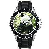 Timest - Panda - Unisex Reloj con correa de silicona negro Analógico Cuarzo CSE065