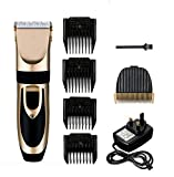 Katzen- und Hundehaarschneidemaschine - Elektrische Haarschneidemaschine mit 4 verschiedenen Schneideadaptern + einem zusätzlichen Haarschneidekopf - Inklusive Akku-Haarschneidemaschine und Reinigungsbürste .
