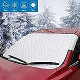 K-Bright 92x142-car Cover 92x142cm Sonnenblende Frontscheibe,Auto Winter+Sommer,Sonnenschutz Windschutzscheiben Schneeschutz Abdeckung(Mit Aufbewahrungsbeutel)
