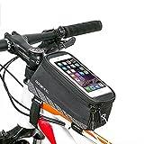 [Update Version] ieGeek Frame Bag lenkertasche Rahmentasche Fahrradtasche mit Handy-Platz