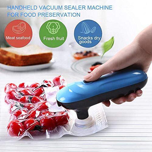 Mini Vacuum Sealer, YeIdou Rechargeable Automatic Compression Vacuum Pump with 5 BPA Free Vacuum Sealed Bags for Travel Compression Food Clothes Storage
