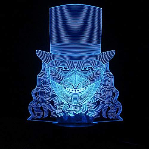 3D Lampe - Optische Täuschung, 3D Kinder Nachtlicht Kühler Mann-Hut Kinderzimmer Nachtlicht für Kinderzimmer Home Decor Weihnachten Geburtstag Geschenke mit 7 Farbwechse (Kühler John Deere)