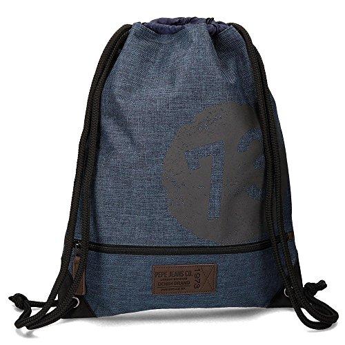 Pepe Jeans Worn 73 Mochila Tipo Casual, 0.77 Litros, Color Azul