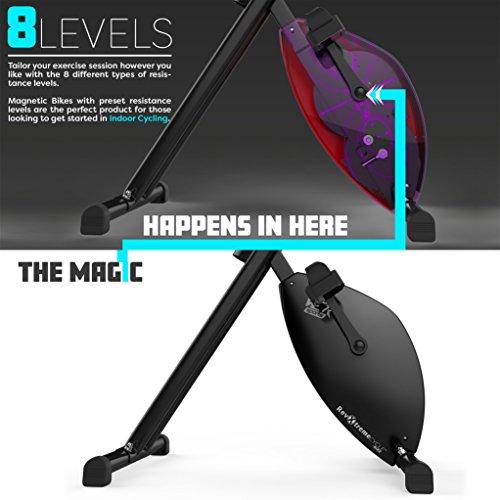 Hometrainer, X-Bike, zusammenklappbar, magnetisch, für Fitness, Cardio, Workout, Gewichtsabbau - 2