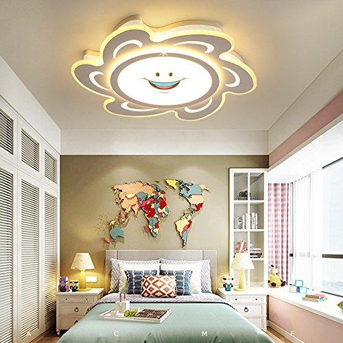Schlafzimmer Lampe Kinderzimmer Kreative Deckenleuchte Led Cartoon Einfache Mädchen Prinzessin Raumbeleuchtung 52 * 8 Cm30 Watt Warmes Licht Auge Lampe - Acht Licht-anhänger Kronleuchter