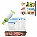 OFKPO Kit di Sigillatore Sottovuoto per Alimenti Riutilizzabili - Sistema Sottovuoto Keep Food Saver più Storage