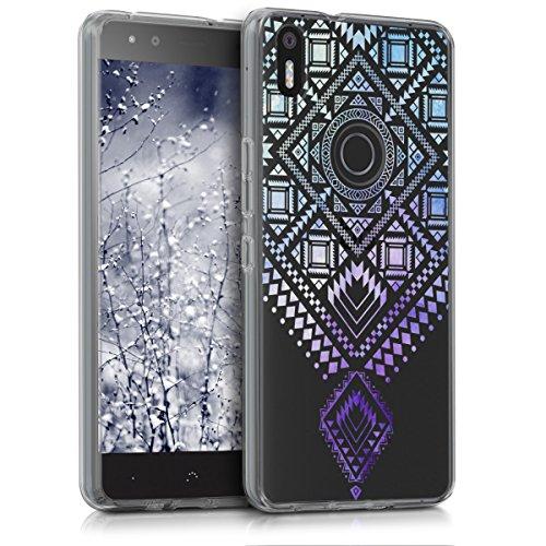 kwmobile bq Aquaris X5 Plus Hülle - Handyhülle für bq Aquaris X5 Plus - Handy Case in Blau Violett Transparent