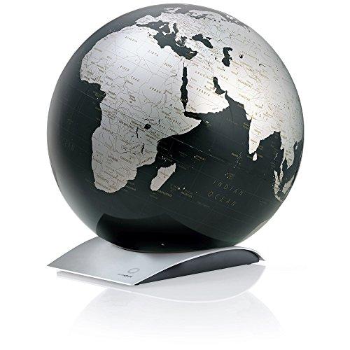 TECNODIDATTICA 0331CQ Atmosphere–Globo terráqueo Capital Q Black, color negro