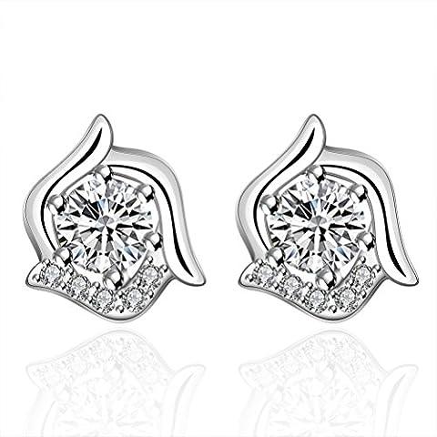 sunifsnow femmes doux mignon classique spécial forme ronde pierre cristal Boucles d'oreilles