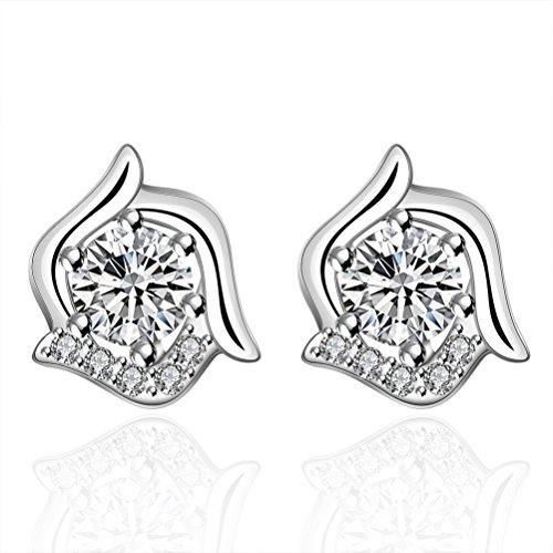 sunifsnow Frauen Cute klassischen fein spezielle Runde Form Stein Kristall Ohrringe