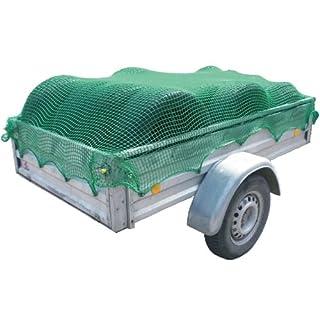 Anhängernetz ca. 2,0x3,0m, robustes Netz, Abspannnetz dient zur Sicherung der Ladung in offenen Ladeflächen, Containern oder Anhängern. Farbe: grün
