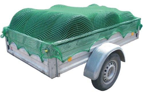 MASTERP Anhängernetz ca. 1,5x2,2m robustes Netz, Abspannnetz ideal zur Ladungssicherung auf offenen Ladeflächen oder Containern, Farbe: grün