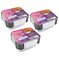 Freshee Pack of 3 x 25 pcs Aluminium Silver Foil Container 450ml| 100% Recyclable Food Storage Disposable Containers with Lid For Kitchen | Bacteria Resistant