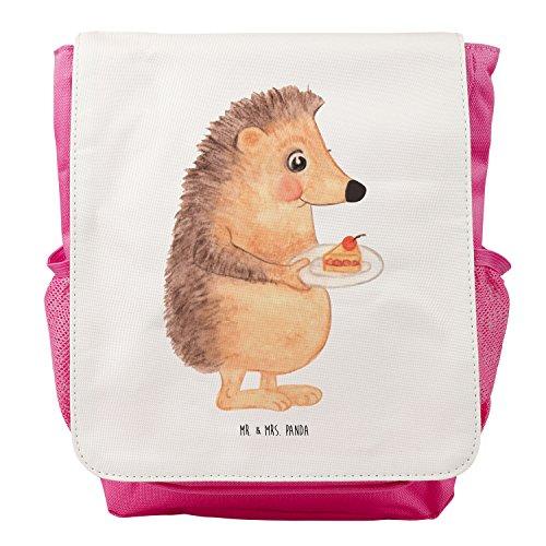Mr. & Mrs. Panda Kids, Rucksack, Kinderrucksack Igel mit Kuchenstück - Farbe Weiß