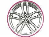 4 Stück Alufelgen Schutzringe AlloyGator Rosa - Pink / Felgen / Größen (13
