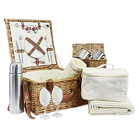 Deluxe 2 Person Fitted Picnic Basket -