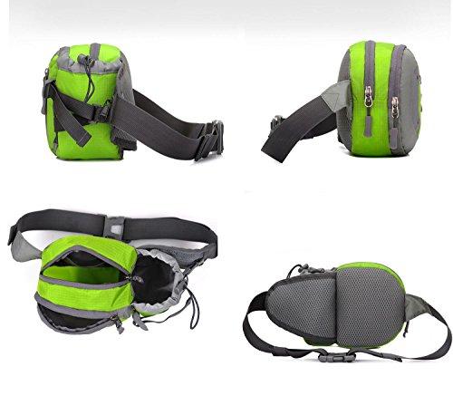 Wasser Flasche Hüfte Tasche Outdoor Sport Fitness Tasche Lagerung Handys tragbar waren Taille Pack 3 Farben H49 x l 29 x T21 cm Purple