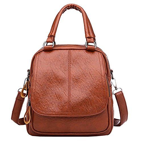 Dorame borse donna e zaino scuola zaino casual zaino donna ragazze zaino in pelle zaino nero e borse a tracolla per donna in pelle (pu, marrone)