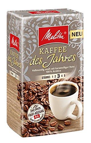 Melitta Gemahlener Röstkaffee, Filterkaffee, vollmundig mit Nuancen dunkler Schokolade, kräftiger Röstgrad, Stärke 4, Kaffee des Jahres, 6 x 500 g thumbnail