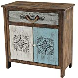Mendler Commode Funchal Armoire Table d'appoint, Vintage, Shabby Chic, 84x80x40cm