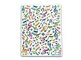 Musique à thème 20pochettes plastique Folder Display Book Coque souple?Motif notes de musique multicolores