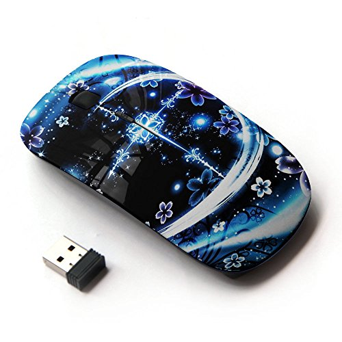 KOOLmouse [ Mouse Senza Fili Ottico 2.4G ] [ God Christ Cross Floral Night ]