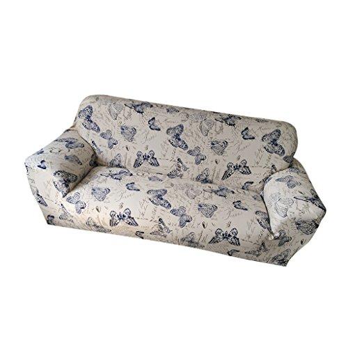 Gazechimp Modern Weich Stretch Sesselhussen Stretchhussen Husse aus elastischer Stoff für 1-Sitz / 3-Sitzer Couch Sofa - Schmetterling , 190-230cm