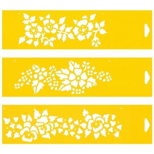 30cm-x-8cm-pochoir-jeu-de-3-reutilisable-en-pcv-plastique-transparent-souple-trace-gabarit-tracage-i