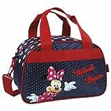 Minnie Mouse sac de voyage, sport, loisirs, sac bagage a main pour les enfants, Dimensions : 34 cm x 19 cm x 22 cm,