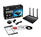 ASUS RT-AC66U - Router - WLAN 1 Gbps - 4-Port - Kabellos USB Extern, 90-IGY7002M01-3PA0-