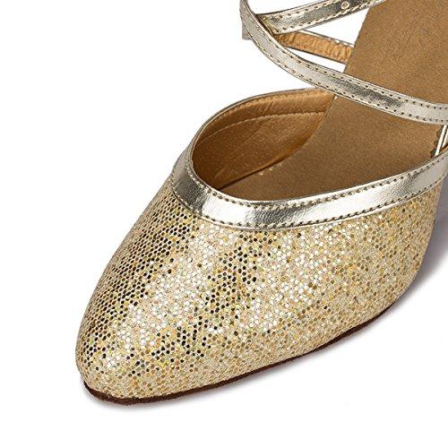 Miyoopark - Ballroom donna Light Gold-8cm Heel