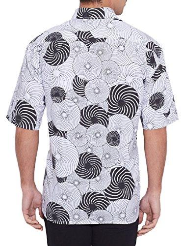 ShalinIndia hommes de plage en coton imprimé Shirt manches demi avant Pocket Multi_273