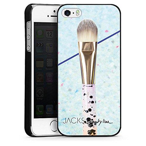 Apple iPhone 5s Housse Étui Protection Coque Pinceau Maquillage Maquiller CasDur noir