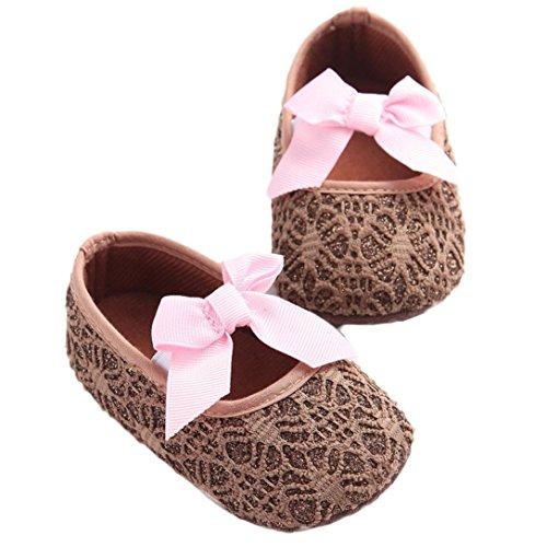 koly Neugeborenes Baby rutschfeste weiche Sohle Schuhe 0~4 Month Kaffeebraun Blusas De Mujeres