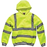 Dickies - Hoch Sichtbarer Kapuzenpullover Signalfarben Pullover, Gelb - Signalfarbe Gelb, L