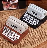 URGrace 5Pcs Nette schwarze u. Brown-Schreibmaschine-hölzerne Protokoll-Kartenhalter-Papierklammern für Foto-Mitteilung-Hauptbüro-Dekoration-Büro-Versorgungsmaterialien
