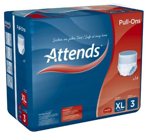 Attends Pull-Ons 3XL, Einmalhose, für leichte Blasenschwäche, Größe XL, 14 St - 3