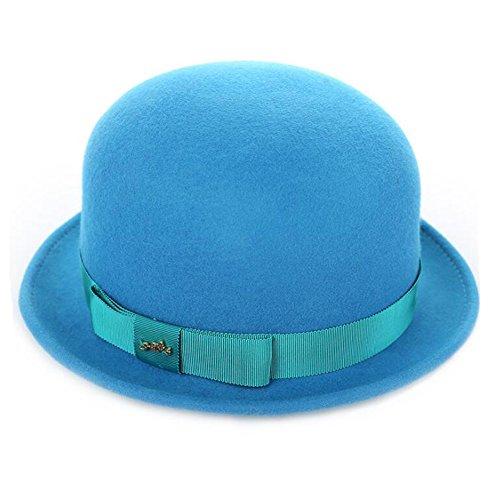 Frau Bowler Hut Damen Mode Wolle Melton Niedlich Runden Trilby Kappen Fedora Hut 80Store (Frauen Kostüme Für Clown Niedliche)