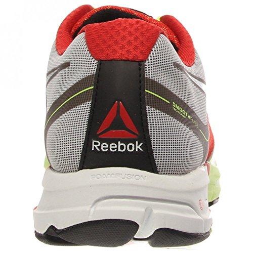 Reebok Un coussin Running Shoe Neon Yellow/China Red/White