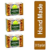 Divine India Almond Soap, 125 g (Pack of 3)